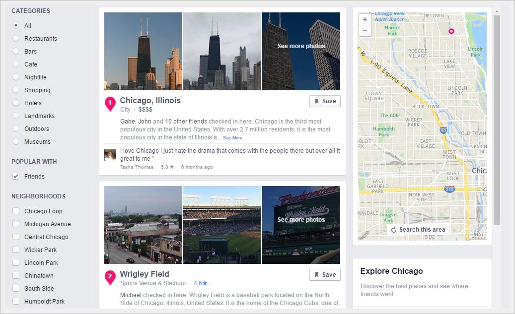 Digital Maids Facebook Places Screenshot