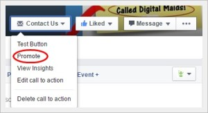 Digital Maids Facebook Business Page Tips Call To Action Button