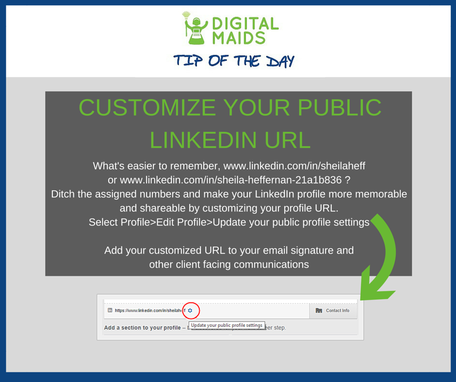 LinkedIn Tip Digital Maids Marblehead MA