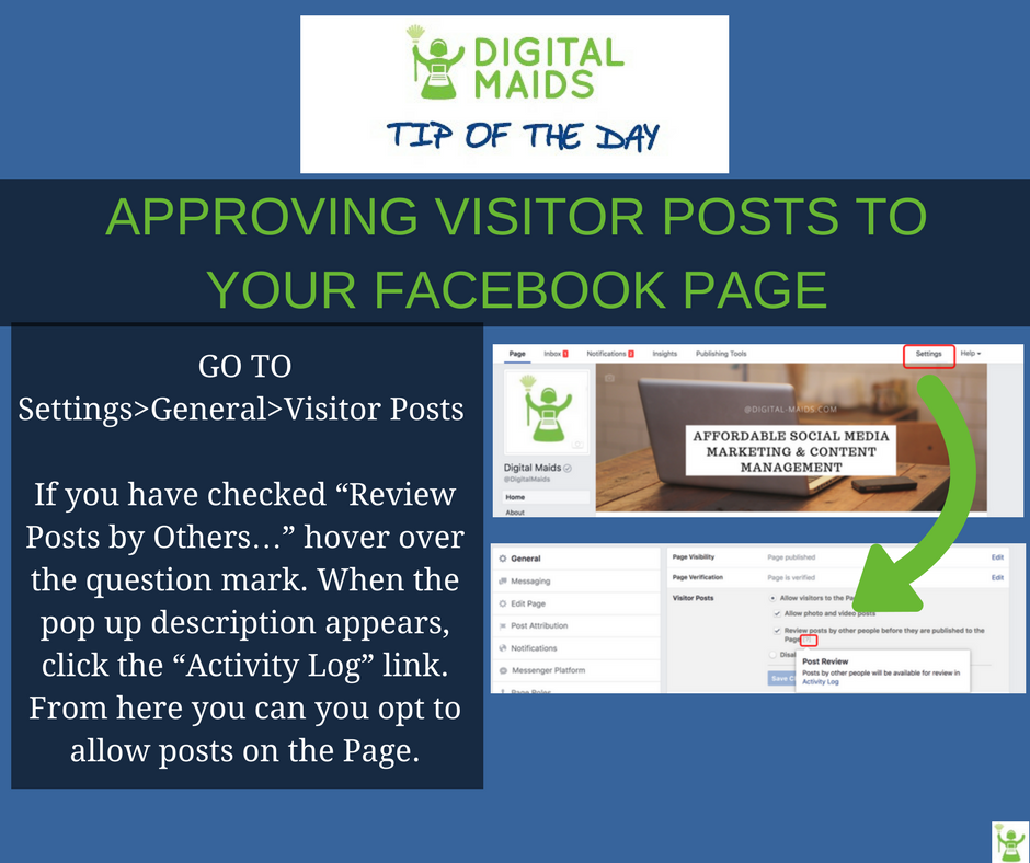 Approving Facebook Visitor Posts to Your Page