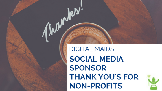 How Non-Profits Thank Sponsors on Social Media